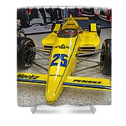 1987 Indianapolis 500 Winner Al Unser Shower Curtain