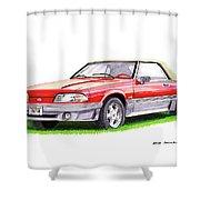 1989 Saleen Mustang Convertible Shower Curtain