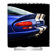 1995 Dodge Viper Coupe 'tail' Shower Curtain