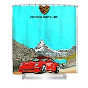 1997 Porsche 993 Twin Turbo R  Shower Curtain