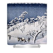 19th C. Snow On Asuka Hill Shower Curtain