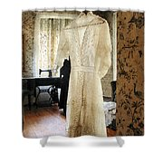19th Century Wedding Dress Shower Curtain