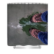 Standing On Thin Ice 2 Shower Curtain
