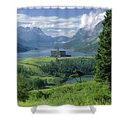 1m3001 Prince Of Wales From Afar Shower Curtain