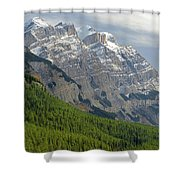 1m3625 Massive Ramparts Of Mt. Wilson Shower Curtain