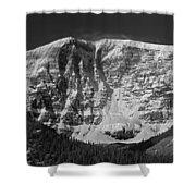 1m3769 Bw East Face Mt Kitchner Shower Curtain