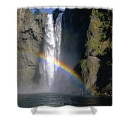 1m4716 Snoqualmie Falls And Rainbow Shower Curtain