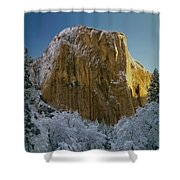 1m6576-winter On El Capitan In 1970 Shower Curtain