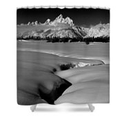 1m9303 Bwtetons Seen From Jackson Hole Shower Curtain
