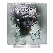 Sensual Beautiful Dahlia Shower Curtain