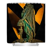 1st Cav History - Respect From Another Trooper To Another - Oil Shower Curtain