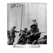 1st Flag Raising On Iwo Jima  Shower Curtain