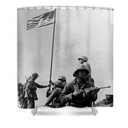 1st Flag Raising On Iwo Jima  Shower Curtain