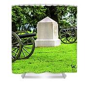 1st Mass Battery Gettysburg National Cemetery Shower Curtain