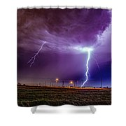 1st Severe Night Tboomers Of 2018 017 Shower Curtain