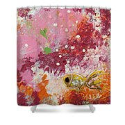 1 Gold Fish Shower Curtain