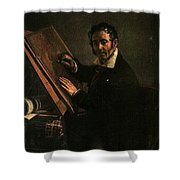 1824 Vasily Tropinin Shower Curtain