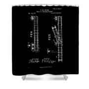 1875 Electric Railway Signal Patent Drawing Shower Curtain