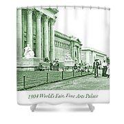 1904 World's Fair, Fine Arts Palace Shower Curtain