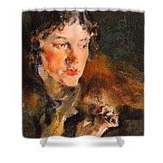 1920- Nikolay Feshin Shower Curtain