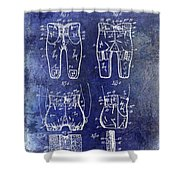 1927 Football Pants Patent Shower Curtain