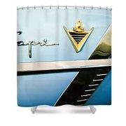 1953 Lincoln Capri Emblem Shower Curtain