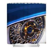 1957 Ford Thunderbird Wheel Shower Curtain