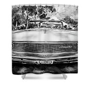 1959 Lincoln Continental Town Car Mk Iv Painted Bw   Shower Curtain