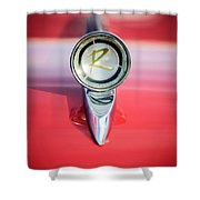 1961 Rambler Hood Ornament Shower Curtain