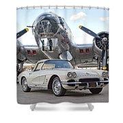 1962 Chevrolet Corvette Shower Curtain