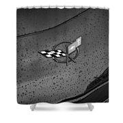 2002 Corvette Ls1 Painted Bw Shower Curtain