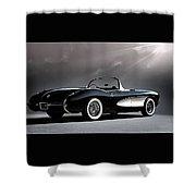 '56 Corvette Convertible Shower Curtain