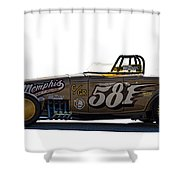 581 Bonneville Race Car Shower Curtain