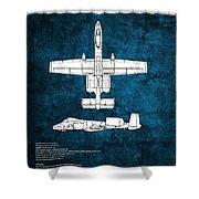 A-10 Thunderbolt II  Shower Curtain