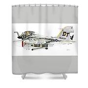 A-6e Intruder Caricature Shower Curtain