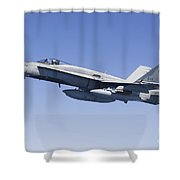 A Cf-188a Hornet Of The Royal Canadian Shower Curtain