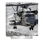 A Ch-53e Super Stallion Helicopter Shower Curtain
