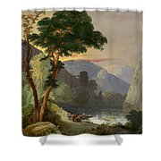 A Mountain Lake In The Italian Alps Shower Curtain