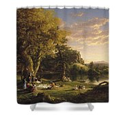 A Pic Nic Party Shower Curtain