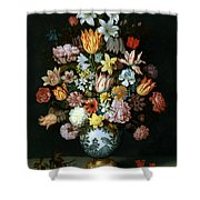 A Still Life Of Flowers Shower Curtain