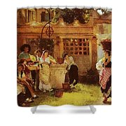A Venetian Fan Seller Henry Woods Shower Curtain
