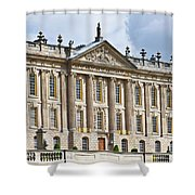 A View Of Chatsworth House, Great Britain Shower Curtain
