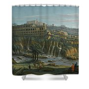 A View Of The Waterfalls And The Villa Of Maecenas Shower Curtain