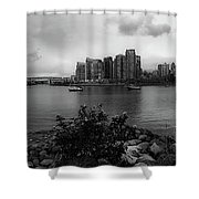 A View Of Vancouver Shower Curtain