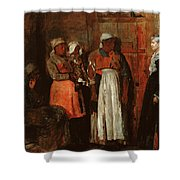A Visit From The Old Mistress Shower Curtain