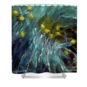 Abstract 92 Digital Oil Painting On Canvas Full Of Texture And Brig Shower Curtain