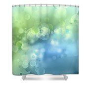 Abstract Blue Green Circles 3 Shower Curtain