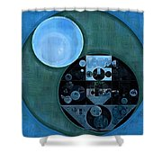 Abstract Painting - Lapis Lazuli Shower Curtain