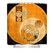 Abstract Painting - Smoky Black Shower Curtain