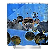 Abstract Painting - Tufts Blue Shower Curtain